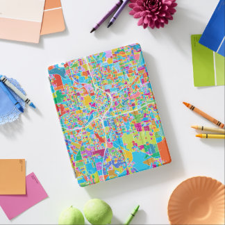 Colorful Atlanta Map iPad Cover