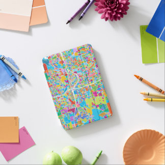 Colorful Atlanta Map iPad Mini Cover