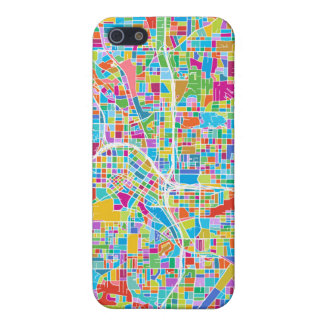 Colorful Atlanta Map iPhone 5/5S Covers