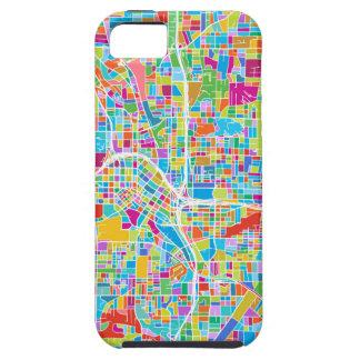 Colorful Atlanta Map iPhone 5 Case