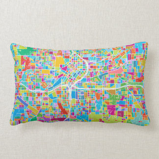 Colorful Atlanta Map Lumbar Pillow