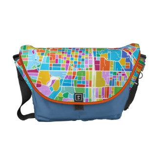 Colorful Atlanta Map Messenger Bag
