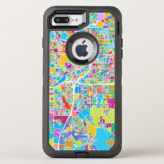 Colorful Atlanta Map OtterBox Defender iPhone 8 Plus/7 Plus Case