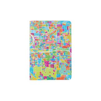 Colorful Atlanta Map Passport Holder