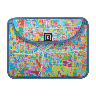 Colorful Atlanta Map Sleeve For MacBook Pro