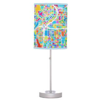 Colorful Atlanta Map Table Lamp
