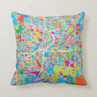 Colorful Atlanta Map Throw Pillow