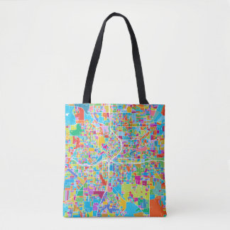 Colorful Atlanta Map Tote Bag