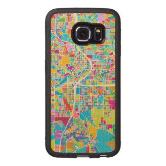 Colorful Atlanta Map Wood Phone Case