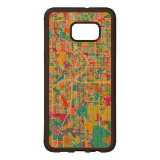 Colorful Atlanta Map Wood Samsung Galaxy S6 Edge Case