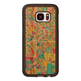 Colorful Atlanta Map Wood Samsung Galaxy S7 Case