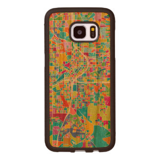 Colorful Atlanta Map Wood Samsung Galaxy S7 Edge Case