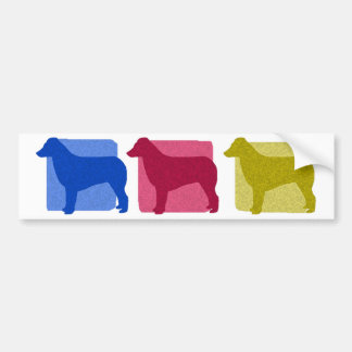 Colorful Australian Shepherd Silhouettes Bumper Sticker