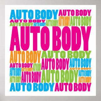 Colorful Auto Body Poster