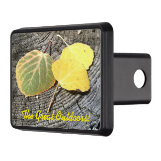 Colorful Autumn Aspen Leaves Photograph Tow Hitch Cover