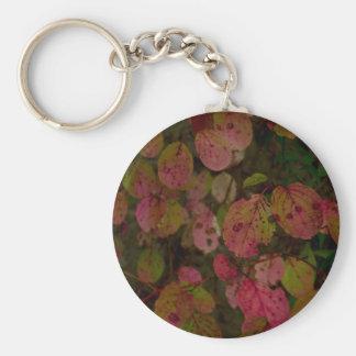 Colorful Autumn Basic Round Button Keychain