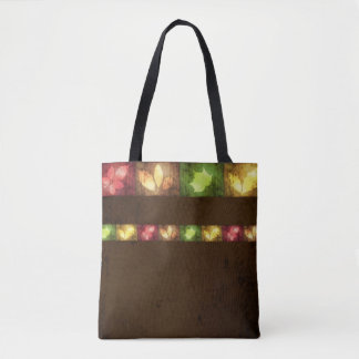 Colorful Autumn Grunge Leaves - Tote Bag
