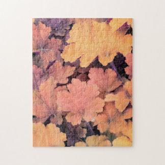 colorful autumn leaf jigsaw puzzle