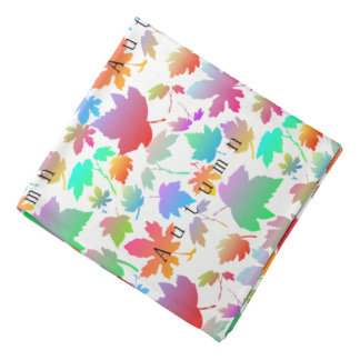 Colorful autumn leaves bandana