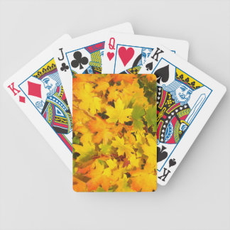 Colorful Autumn Leaves Bicycle Playing Cards