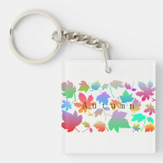Colorful autumn leaves keychain