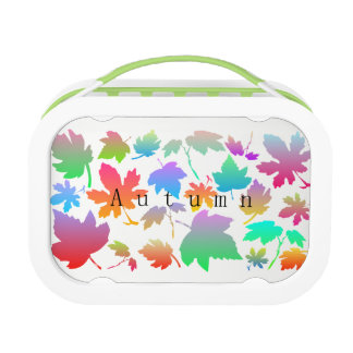 Colorful autumn leaves lunch box