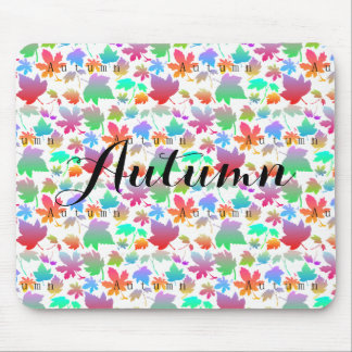Colorful autumn leaves mouse pad