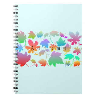 Colorful autumn leaves notebooks