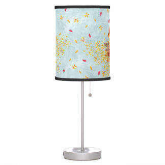 Colorful autumn leaves table lamp