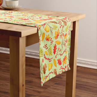 Colorful Autumn Leaves Table Runner