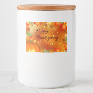 Colorful Autumn Leaves - Thanksgiving Food Label