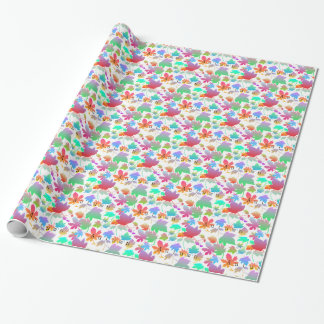 Colorful autumn leaves wrapping paper