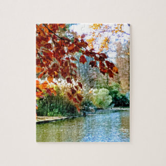 Colorful Autumn on the Water Jigsaw Puzzle