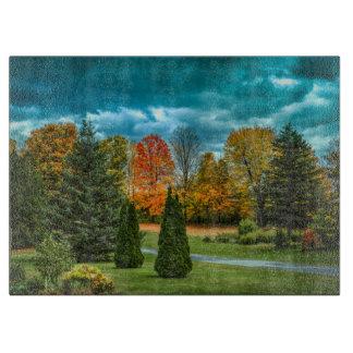 Colorful Autumn Scenic Photo Cutting Board