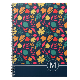 Colorful Autumn Seamless Ditzy | Notebook