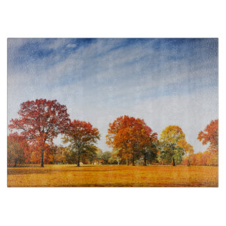 Colorful Autumn Trees Landscape Fall Season Cutting Board