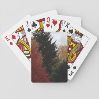 Colorful Autumn Trees Photo Playing Cards