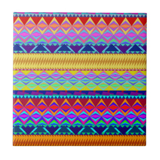 Colorful Aztec Design Tile