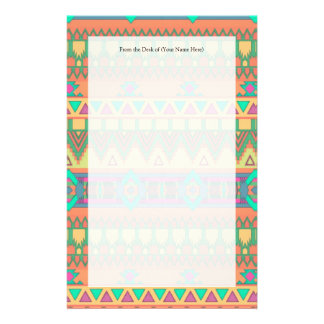 Colorful Aztec Pattern Stationery
