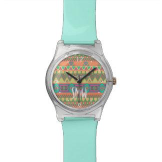 Colorful Aztec Pattern Wrist Watch