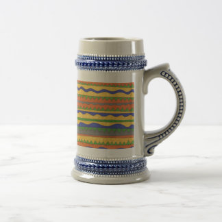 Colorful Aztec Tribal Pattern Beer Stein