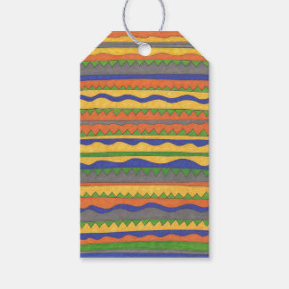 Colorful Aztec Tribal Pattern Gift Tags