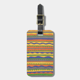 Colorful Aztec Tribal Pattern Luggage Tag