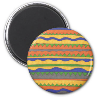 Colorful Aztec Tribal Pattern Magnet
