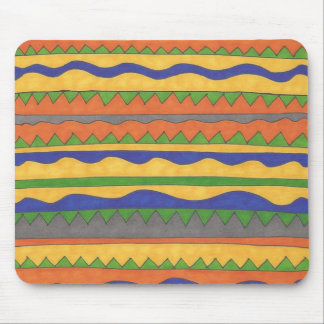 Colorful Aztec Tribal Pattern Mouse Pad