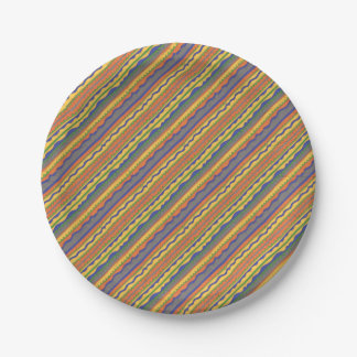 Colorful Aztec Tribal Pattern Paper Plate