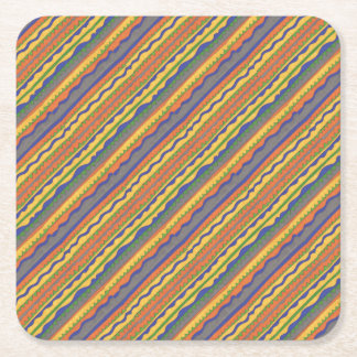 Colorful Aztec Tribal Pattern Square Paper Coaster