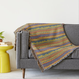 Colorful Aztec Tribal Pattern Throw Blanket