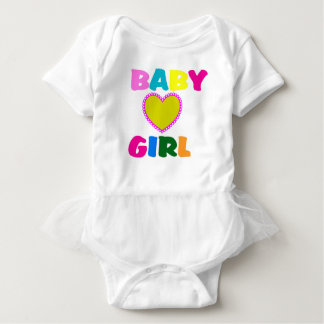 Colorful Baby Girl Text Baby Bodysuit