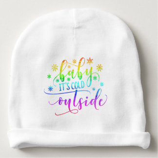 Colorful Baby It's Cold Outside | Cotton Beanie Baby Beanie
